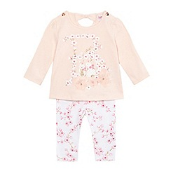 Baker by Ted Baker - Baby girls' pink floral print top and leggings