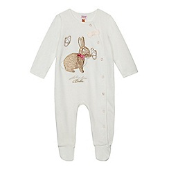 Baker by Ted Baker - Baby girls' white glitter bunny onesie