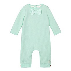 Baker by Ted Baker - Baby girls' green quilted bow sleepsuit