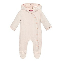 Baker by Ted Baker - Baby girls' pink hooded snugglesuit