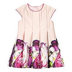 Baker by Ted Baker - Baby girls' pink floral print pleated dress