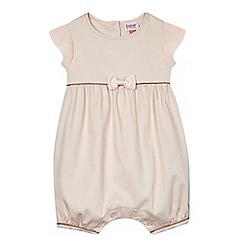 Baker by Ted Baker - Baby girls' light pink pique romper suit