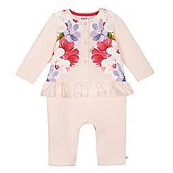Baker by Ted Baker - Baby girls' light pink floral print romper suit