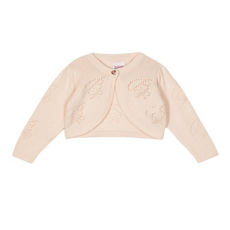 Baker by Ted Baker - Baby girls+ light pink textured knit cardigan