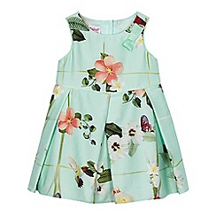 Baker by Ted Baker - Baby girls' light green floral print dress