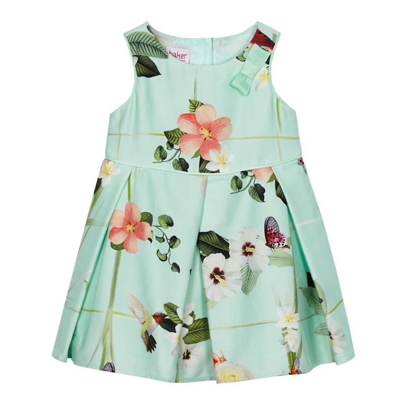Baker by Ted Baker Baby Girls Light Green Floral Print