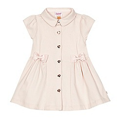 Baker by Ted Baker - Baby girls' light pink textured shirt dress