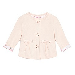 Baker by Ted Baker - Baby girls' light pink textured button jacket