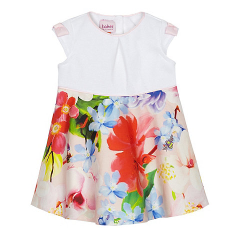 Baker by Ted Baker - Baby girls+ off white floral print dress