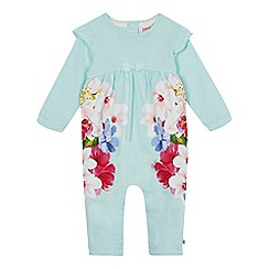 Baker by Ted Baker - Baby girls' light green floral print romper suit