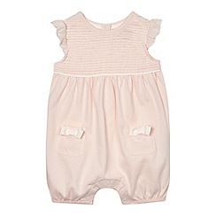 Baker by Ted Baker - Baby girls' light pink pleated yoke romper suit