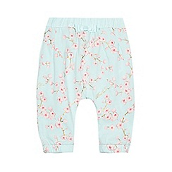 Baker by Ted Baker - Baby girls' light green floral print harem trousers