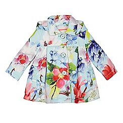 Baker by Ted Baker - Baby girls' light green floral printed coat