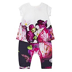 Baker by Ted Baker - Baby girls' multi-coloured floral print top and harem trousers