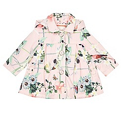 Baker by Ted Baker - Baby girls' pink floral print shower resistant mac jacket