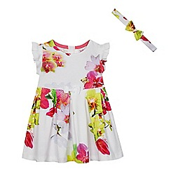 Baker by Ted Baker - Baby girls' multi-coloured orchid print dress