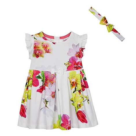 Baker by Ted Baker - Baby girls+ multi-coloured orchid print dress
