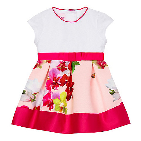 Baker by Ted Baker - Baby girls+ pink floral print dress