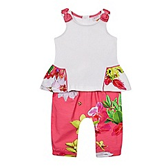 Baker by Ted Baker - Baby girls' multi-coloured peplum top and leggings set