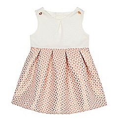 Baker by Ted Baker - Baby girls' white and pink textured geometric dress