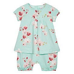 Baker by Ted Baker - Baby girls' multi-coloured floral romper suit