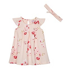 Baker by Ted Baker - Baby girls' pink orchid print swing dress