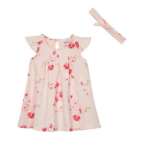 Baker by Ted Baker - Baby girls+ pink orchid print swing dress