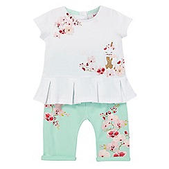 Baker by Ted Baker - Baby girls' white pleated top and trousers set