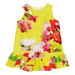 Baker by Ted Baker - Baby girl's yellow floral print dress