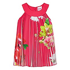 Baker by Ted Baker - Baby girls' pink floral pleated dress
