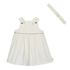 Baker by Ted Baker - Baby girls' white sleeveless pique dress