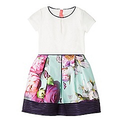 Baker by Ted Baker - Girls' multi-coloured floral print mockable dress