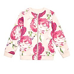 Baker by Ted Baker - Girls' light pink reversible bomber jacket