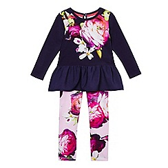 Baker by Ted Baker - Girls' purple peplum top and trousers set