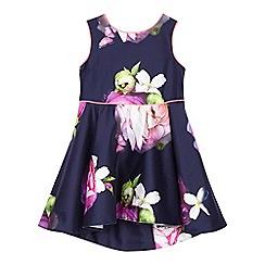 Baker by Ted Baker - Girls' navy floral print dress