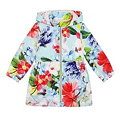 Baker by Ted Baker - Girls' light green floral printed coat