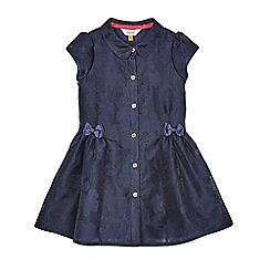 Baker by Ted Baker - Girls' navy perforated floral dress