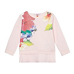 Baker by Ted Baker - Girls' pink floral print pleated top