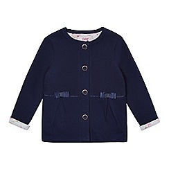 Baker by Ted Baker - Girls' navy quilted bow applique jacket