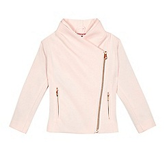 Baker by Ted Baker - Girls' pink ponte biker jacket