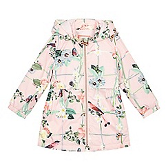 Baker by Ted Baker - Girls' pink floral print shower resistant mac jacket
