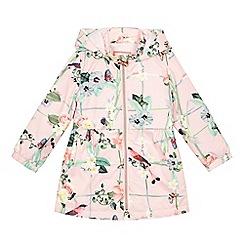 Baker by Ted Baker - Girls' pink floral print shower resistant mac jacket