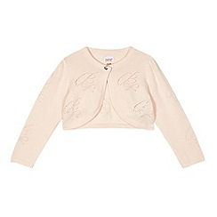 Baker by Ted Baker - Baby girls' light pink textured knit cardigan