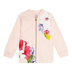 Baker by Ted Baker - Girls' light pink floral jersey bomber jacket