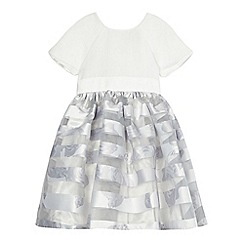 Baker by Ted Baker - Girls' white burn out stripe dress
