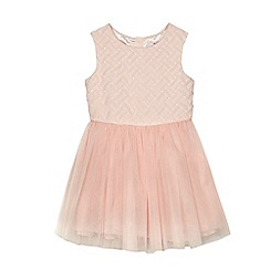 Baker by Ted Baker - Girls' pink lattice dress