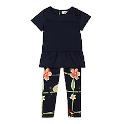 Baker by Ted Baker - Girls' navy floral print leggings and top set