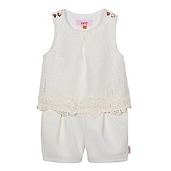 Baker by Ted Baker - Girls' cream lace trim playsuit