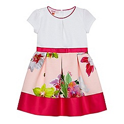 Baker by Ted Baker - Girls' white and pink floral print dress