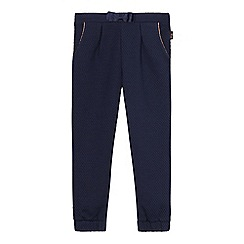 Baker by Ted Baker - Girls' navy textured jogging bottoms